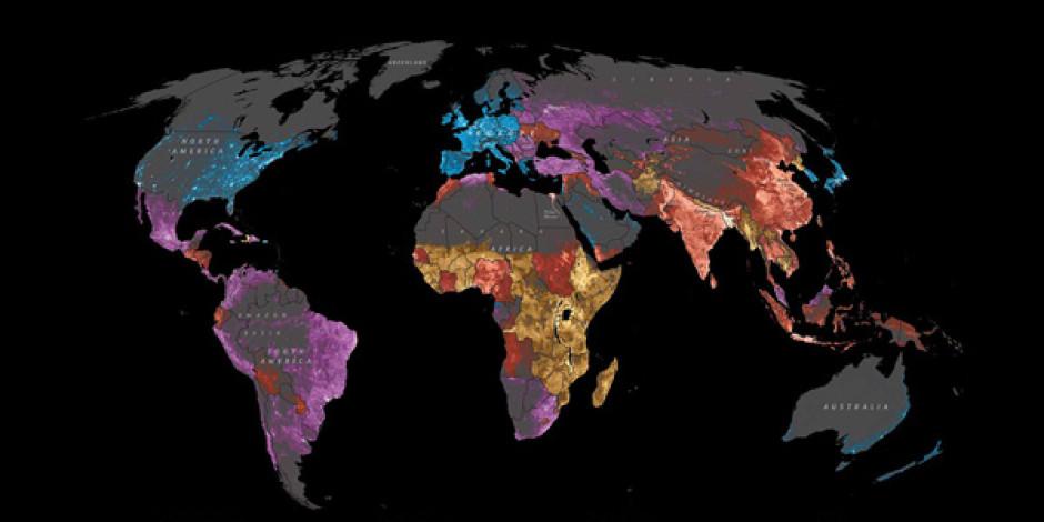 National Geographic'ten İnteraktif Dünya İnternet Haritası