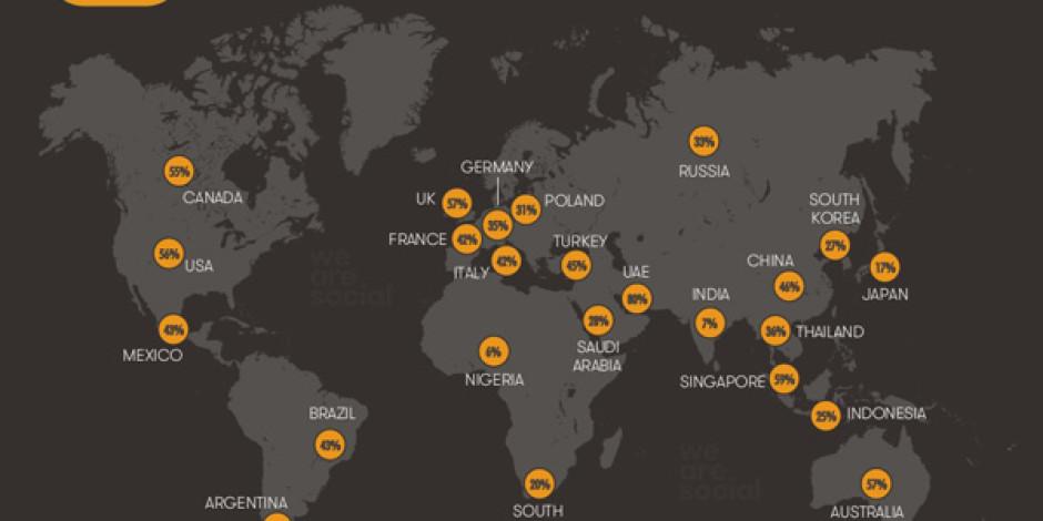 We Are Social'dan Dünya ve Türkiye'ye Dair Dikkat Çekici İnternet İstatistikleri
