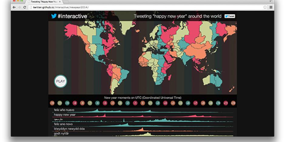 Twitter'dan İnteraktif Yeni Yıl Mesajları Haritası