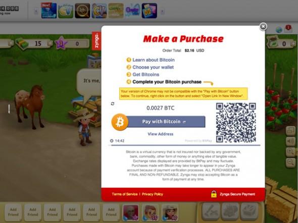 Zynga Bitcoin ile Ödeme Kabul Eden İlk Büyük Oyun Şirketi Oldu