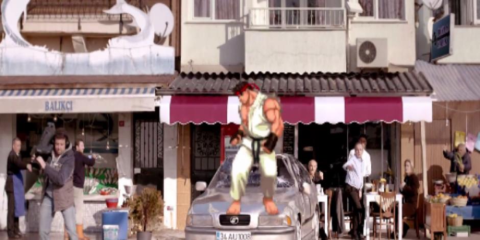 Anadolu Sigorta'dan Street Fighter Göndermeli Reklam: Kaskosuz Sürücüye Aduket Şoku