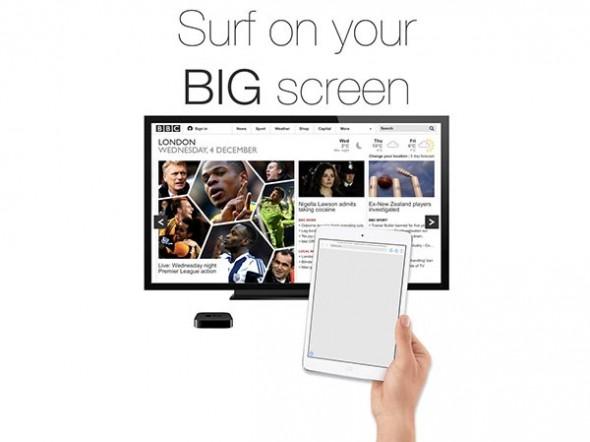 Apple TV için Geliştirilen İlk Tarayıcı Uygulaması: AirWeb