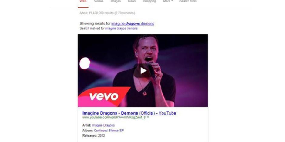 Google Artık Web Arama Sonuçlarında YouTube Videolarını da Gösterecek