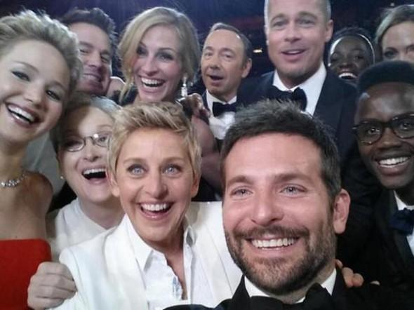 Ellen Degeneres'in Oscar Selfie'si Tüm Zamanların Retweet Rekorını Kırdı