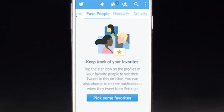 Twitter'dan Favori Kullanıcılara Ayrılan Yeni Akış Sayfası: Fave People