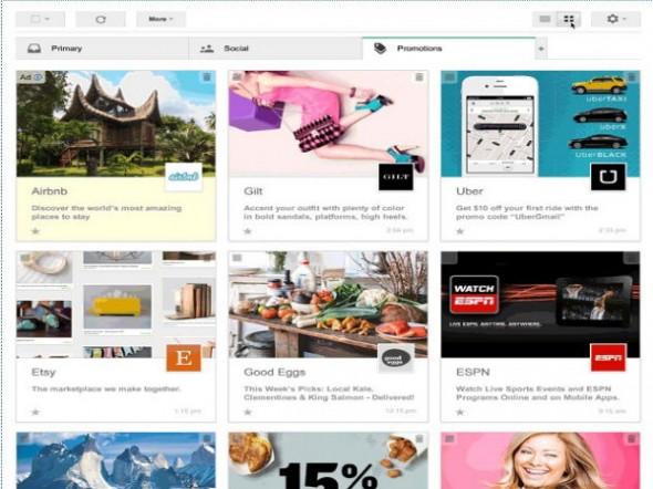 Gmail Yeni Tasarımıyla Pinterest'e Göz Kırpıyor
