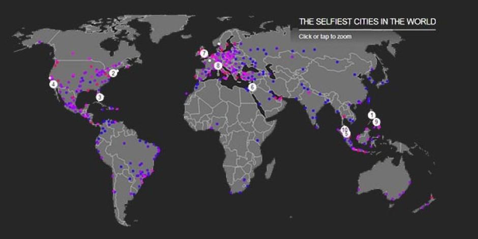 TIME'dan İnteraktif Dünya Selfie Haritası