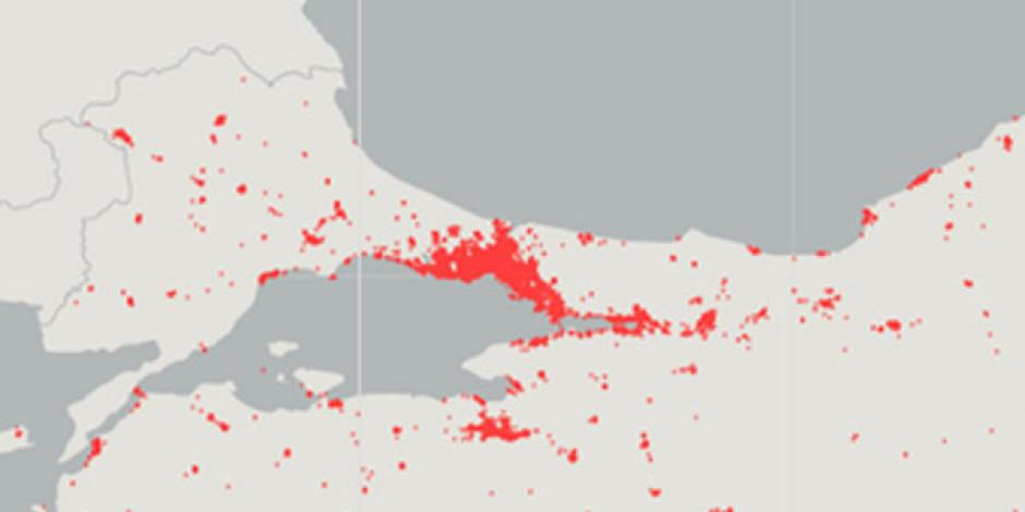 #BerkinElvan Tweet'leri İle Türkiye Haritası