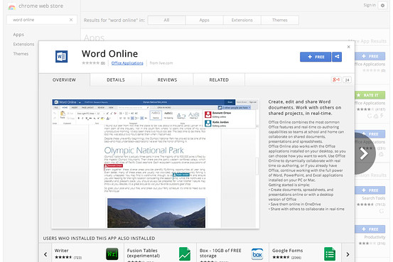 Microsoft, Office Uygulamalarını Chrome Web Mağazası'nda Ücretsiz Sunuyor
