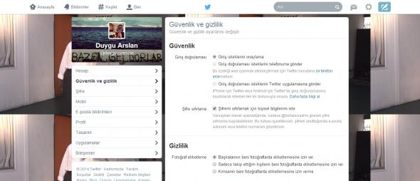 Twitter-Ayarlar