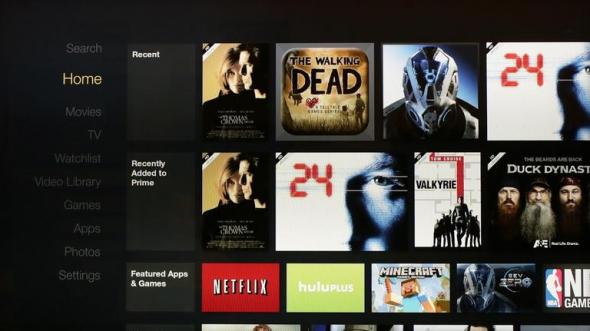 Amazon Fire TV Arayüz