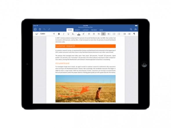 iPad İçin Office Yazıcılarla da Arasını Düzeltti