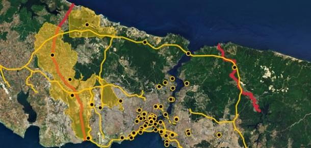 İstanbul'un Dev Projeleri İnteraktif Haritada: Megaİstanbul