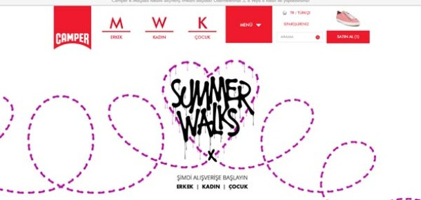 Camper e-ticaret sitesini Türkiye'de yayına aldı