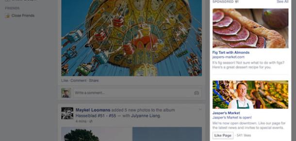 Facebook yenilenen sağ sütun reklamlarını bu hafta hayata geçiriyor