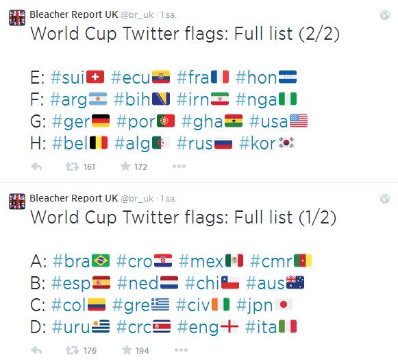 Bayrak hashtag'leri