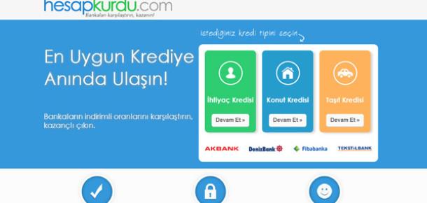 Bankalarla pazarlık eden kredi karşılaştırma servisi: HesapKurdu.com