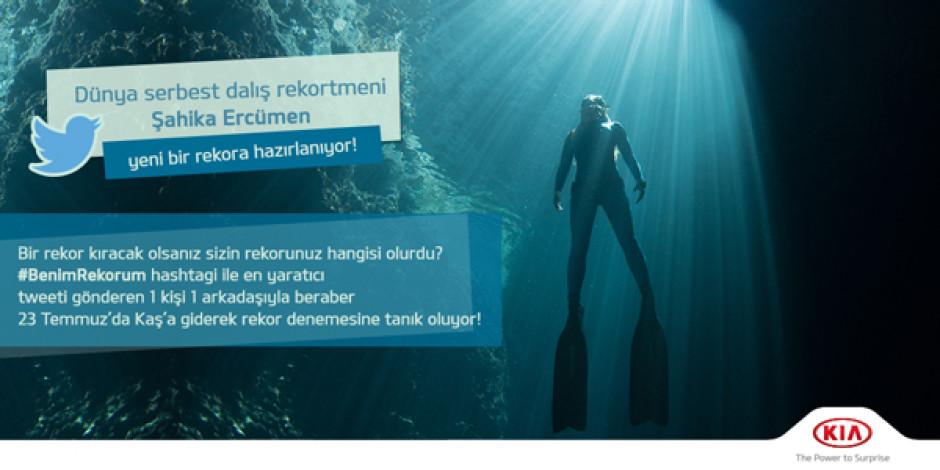 Kia Türkiye'den Şahika Ercümen'in rekor denemesi için yarışma: #BenimRekorum
