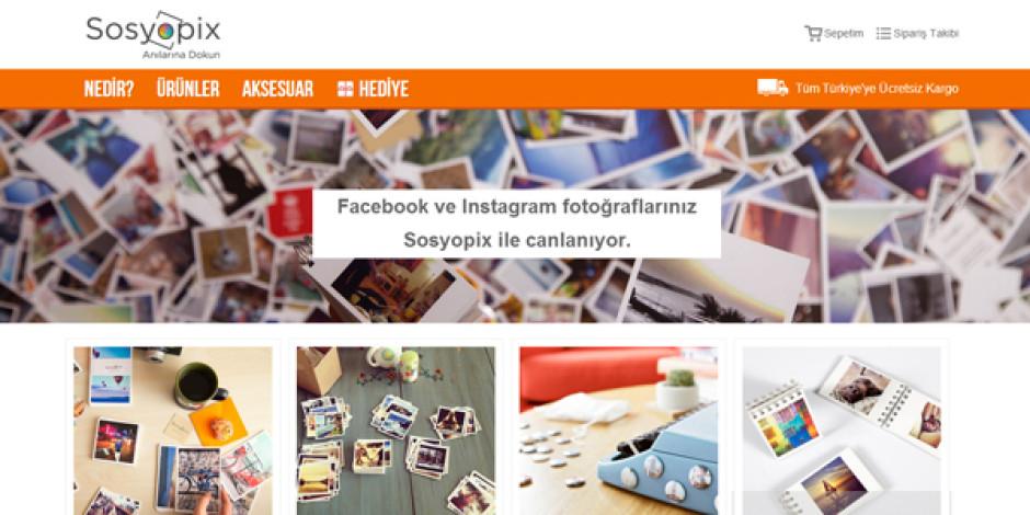 Facebook ve Instagram fotoğraflarınızı hatıra eşyalara dönüştüren girişim: Sosyopix