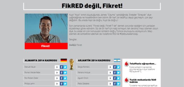 Vodafone, futbolcu isimleri tartışmasına noktayı koydu: kaytmikoytmu.com