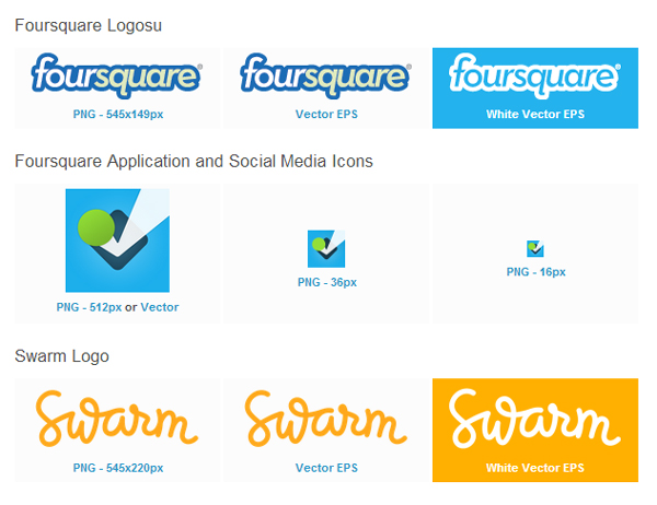 foursquare-Logolar
