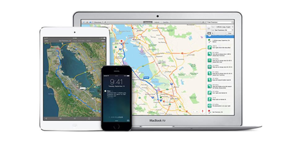 Apple harita servisini web'e açtı