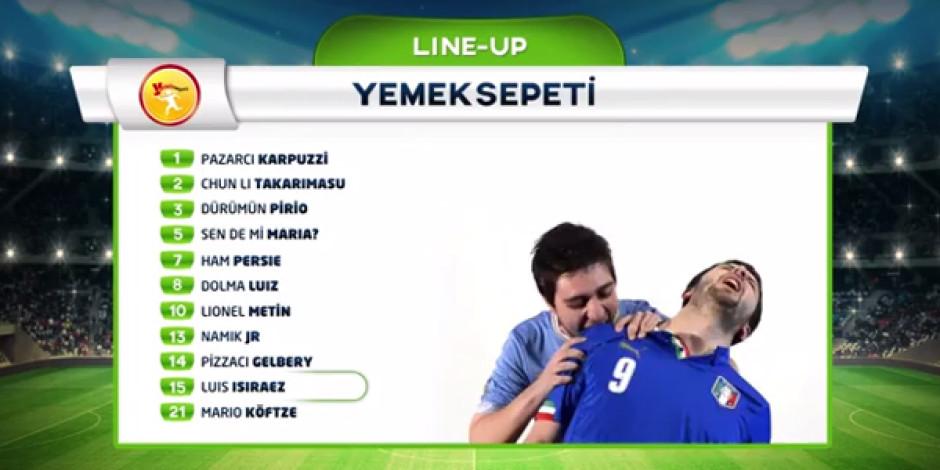 """Yemeksepeti, Dünya Kupası'nın en """"nefis"""" 11'ini bir araya getirdi [Video]"""