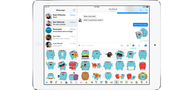 Facebook Messenger iPad'e geldi