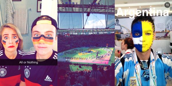 Snapchat'in canlı etkinlik özelliği Dünya Kupası finalinde denendi