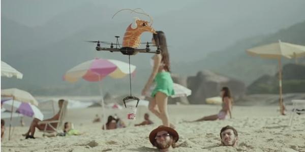 Drone'lar bu kez de noodle taşıdı