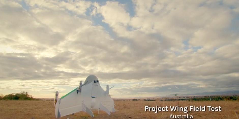 Google, insansız hava araçlarıyla dağıtım servisine ait ilk görüntüleri paylaştı