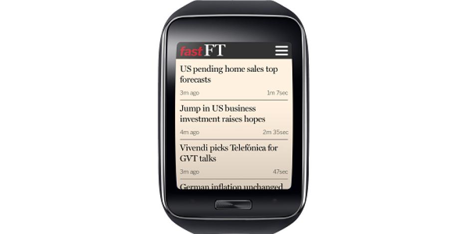The Financial Times, akıllı saatten de okunabilmek için yeni servisini devreye aldı