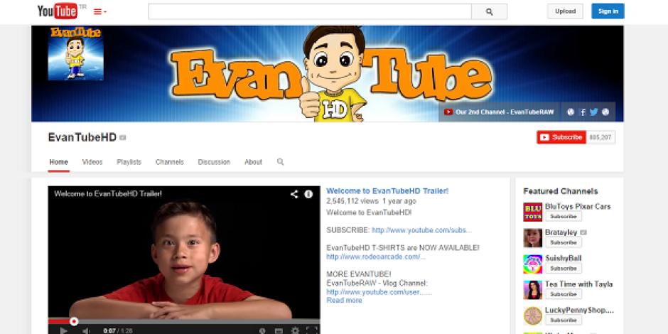 YouTube'un 8 yaşındaki fenomeni yılda 1,3 milyon dolar kazanıyor