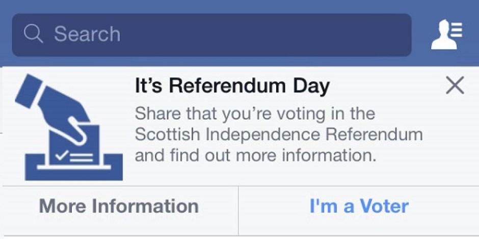 İskoçya'nın bağımsızlık referandumu öncesinde Facebook'tan sosyal sorumluluk kampanyası