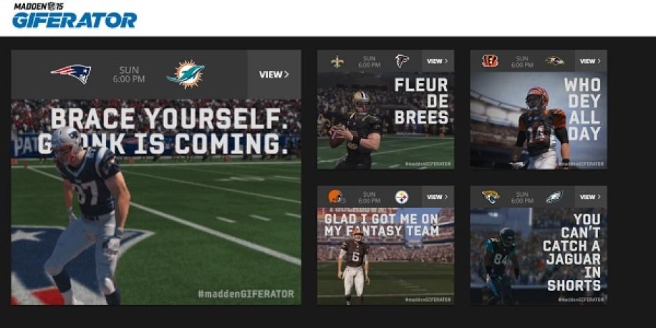 Google, EA Sports'la GIF dünyasına adım atıyor: Madden GIFERATOR