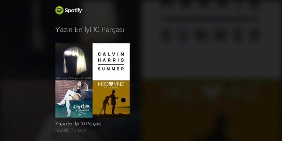Spotify'dan Türkiye'de ve dünyada yazın en çok dinlenen 10 parçası