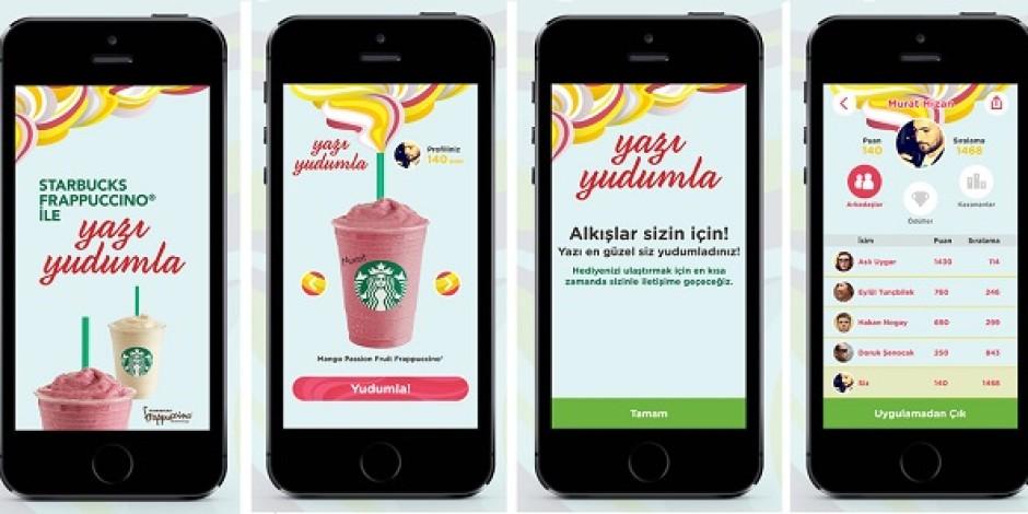 Starbucks Türkiye, mobil uygulama üzerinden Frappuccino yarışması düzenliyor