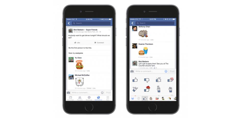 Facebook çıkartmaların kullanım alanı genişliyor