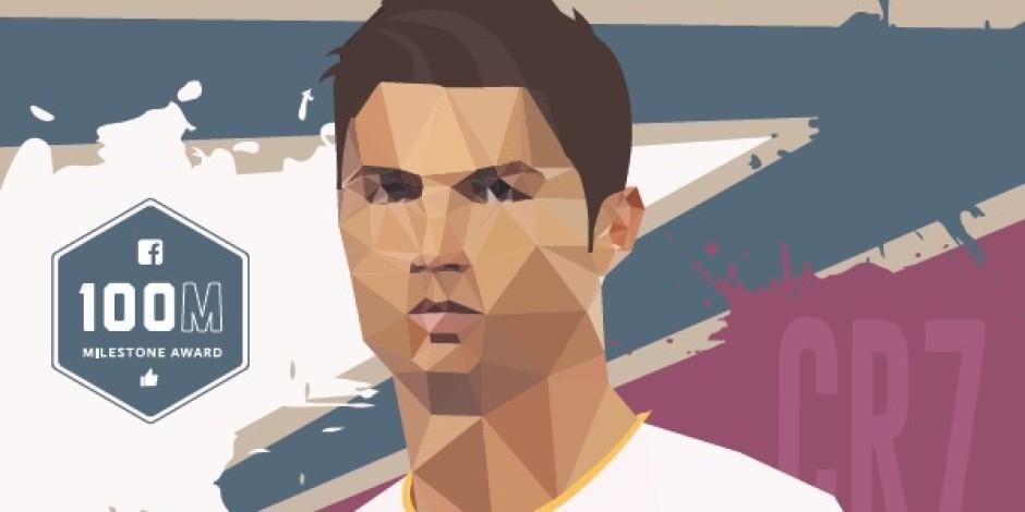 Facebook'tan 100 milyon beğeniyi geçen Cristiano Ronaldo'ya özel infografik