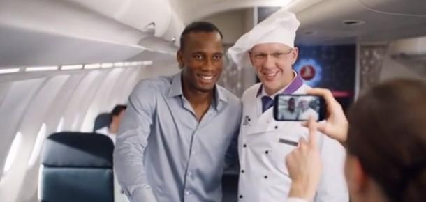 Türk Hava Yolları'nın yeni reklamının yıldızları: Drogba ile Messi