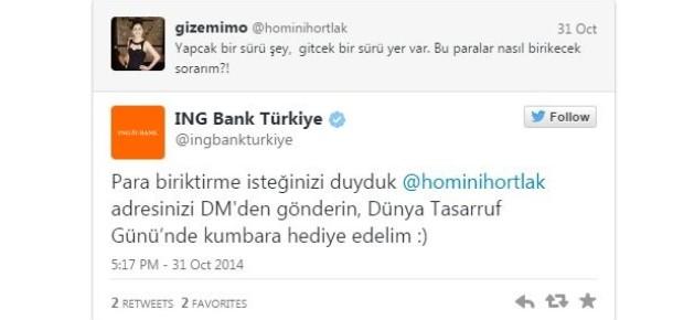 ING Bank'tan Dünya Tasarruf Günü'nde dikkat çeken Twitter çalışması