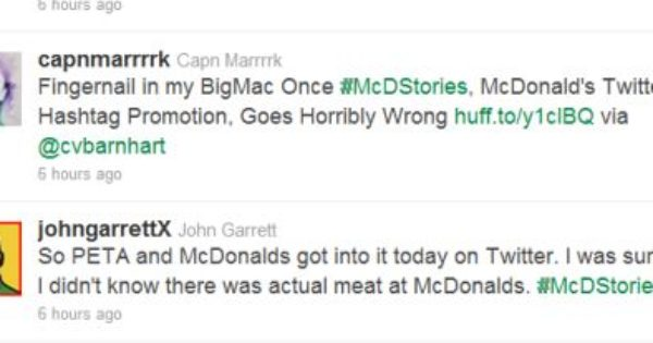 mcdonald s twitter campaign backfires