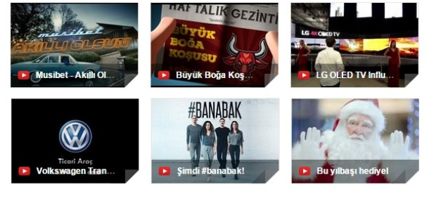 Aralık ayının en popüler 10 reklamı