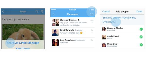 twitter-grup-mesaj