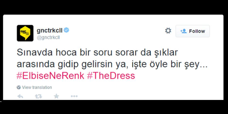 Elbisenin rengi ikilemi The Dress akımına markalar da dahil oldu