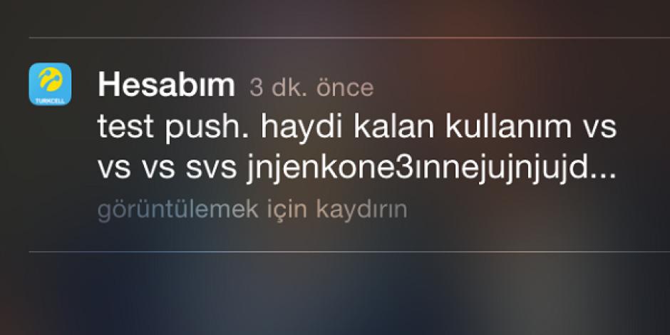Turkcell Hesabım uygulamasının gönderdiği bildirim Hack'lenme durumunu akıllara getirdi