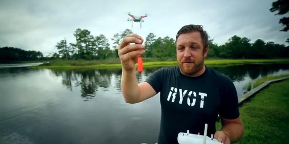 Sosyal medyada yeni eğlence: Drone'la balık tutmak