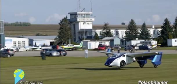 Uçan otomobil AeroMobil'le Sosyal Medya'da #olanbitenler