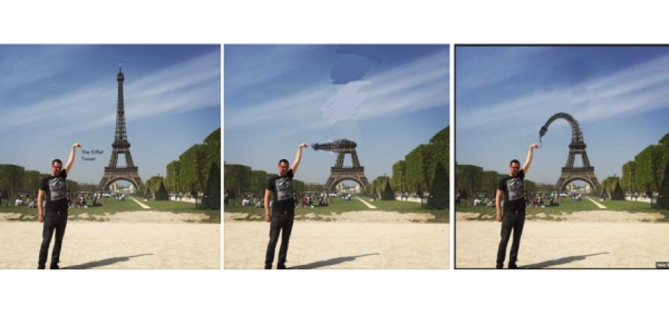 İnternetin yeni çılgınlığı: Eyfel Kulesi parmağınıza gelsin