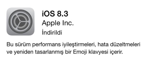 Türkçe Siri'nin geldiği iOS 8.3'le gelen 55 iyileştirme ve hata düzeltmesi